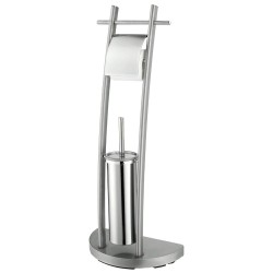 Kronos Pure Chrome Brush & Loo Roll Stand