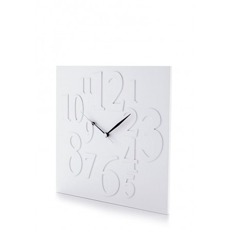 Frieze Matt White Square Wall Clock