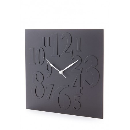 Frieze Matt Black Square Wall Clock