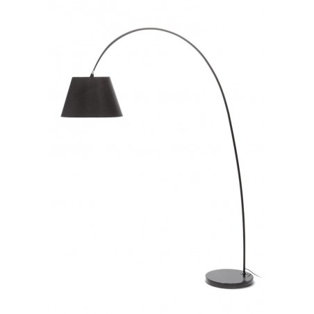 Giraffe Black Arc Floor Lamp - Marble Base