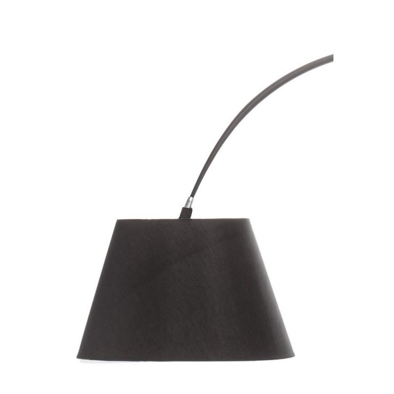 Giraffe Black Arc Floor Lamp - Marble Base