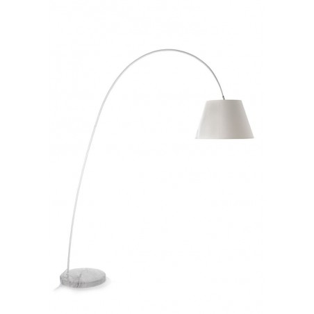 Giraffe White Arc Floor Lamp - Marble Base