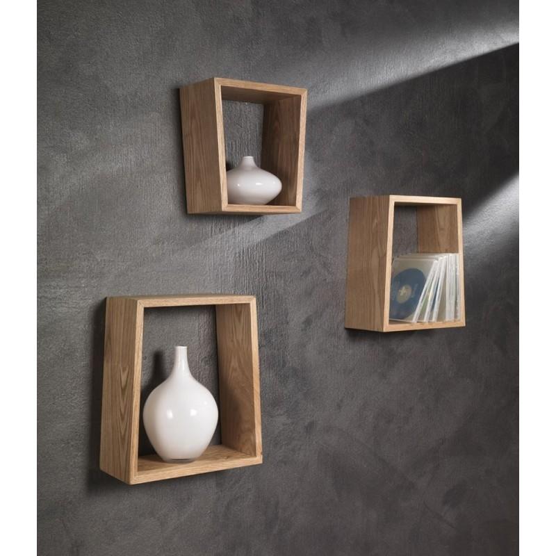 3 Metzinger Oak Wall Cubes