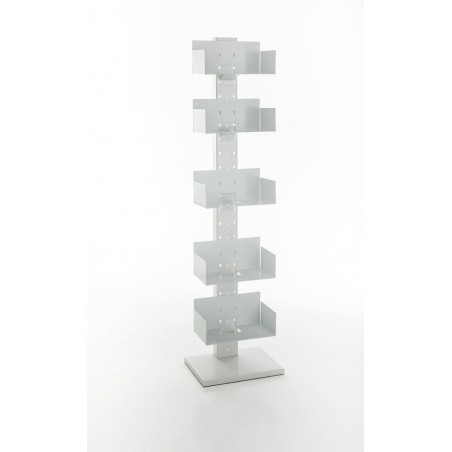 Totem White Metal Bookcase