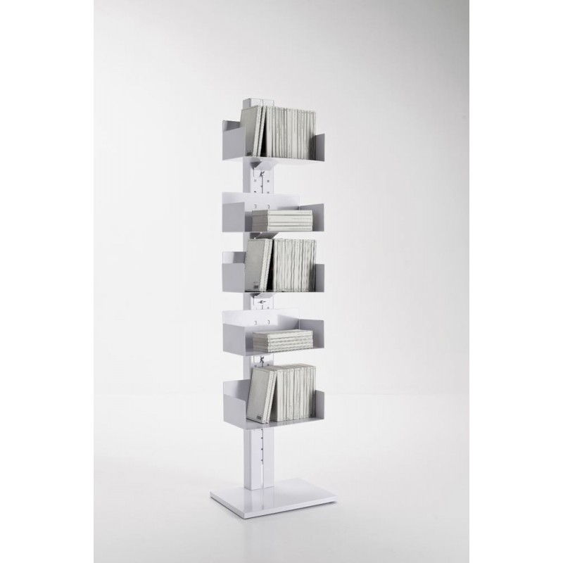 Totem White Metal Bookcase