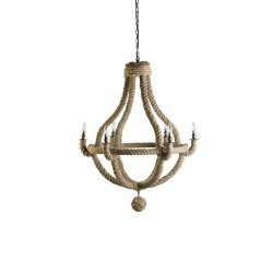 Small Natural Rope Ceiling Chandelier