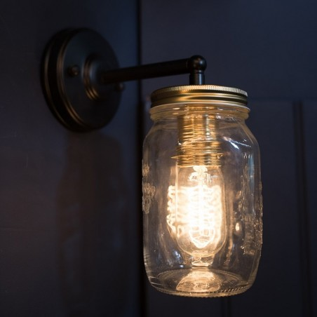 Preserve Jar Atmospheric Glass Wall Light