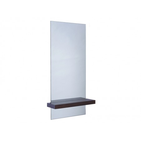 Portrait Mirror with Shelf - Walnut