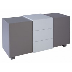 Marlow 2 Door Sideboard - Stone & White Accent