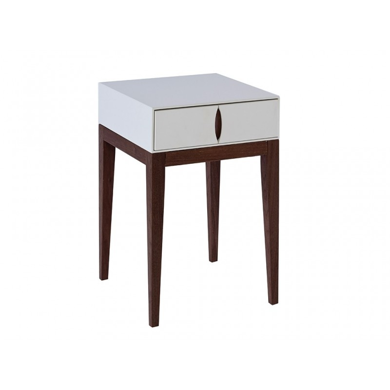 Lux White Lacquer Side Table