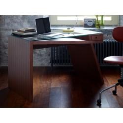 Gerrit Walnut and Glass Writing Desk