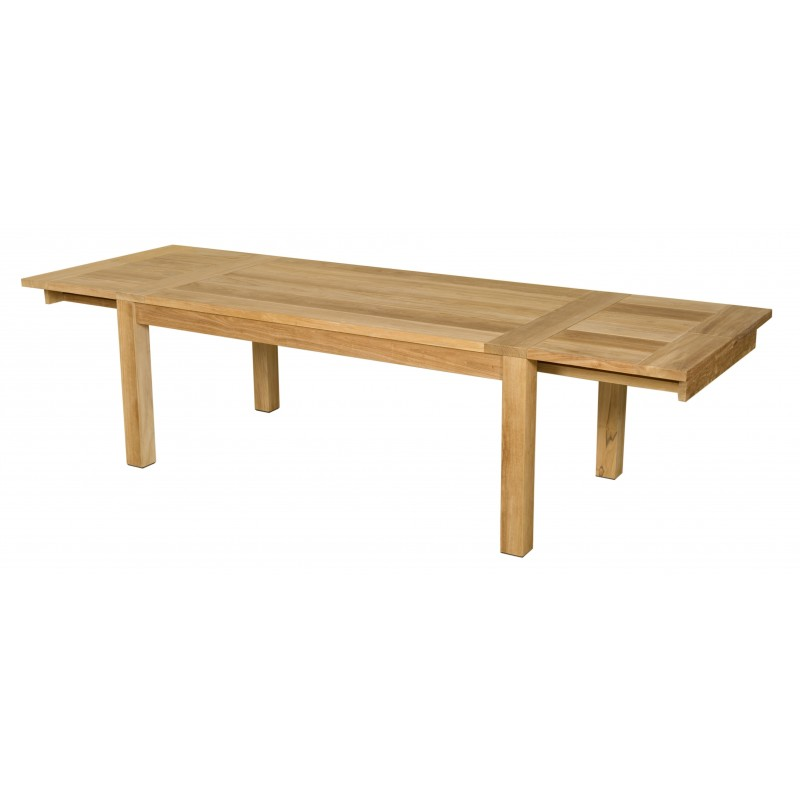 Les Jardins Double Extending Outdoor Teak Dining Table 190 300cm
