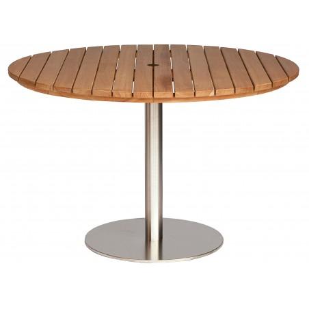 Positano Round Teak Pedestal Table - 110CM