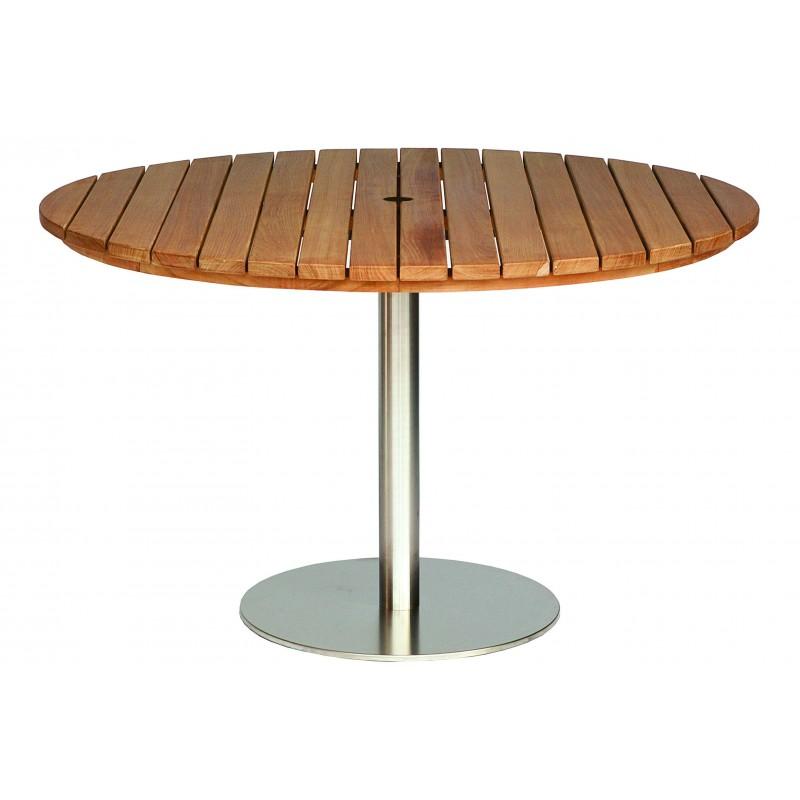 Positano Round Teak Pedestal Table - 130CM