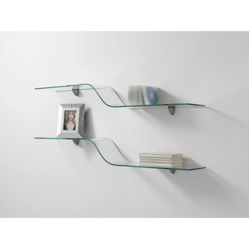 Nieri Curved Glass Shelf - Single