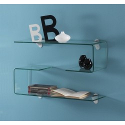 Nardo Curved Glass Shelf - Single