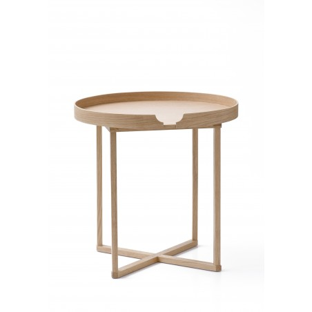 Wireworks Damien Round Oak/White Table