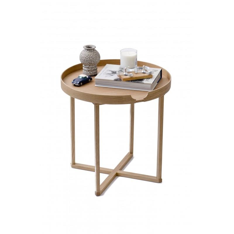 Wireworks Damien Round Oak/Oak Table