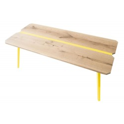 Ubikubi MyWay Oak and Yellow Metal Dining Table