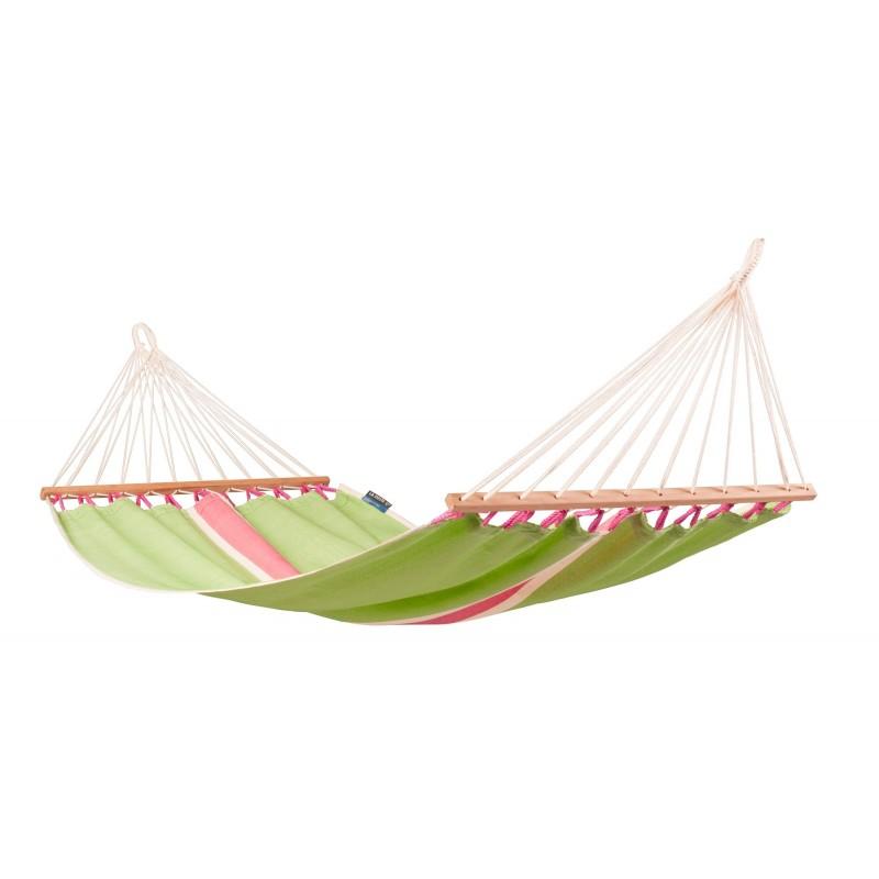 La Siesta Single Hammock with Spreader Bars - Fruta Kiwi