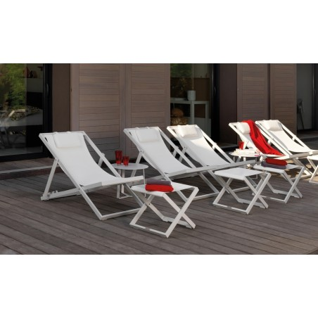 Touch Italian Outdoor Deckchair from Talenti