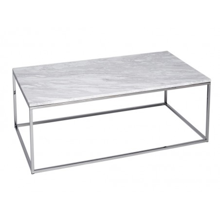 Rectangle Coffee Table - Kensal MARBLE with POLISHED base