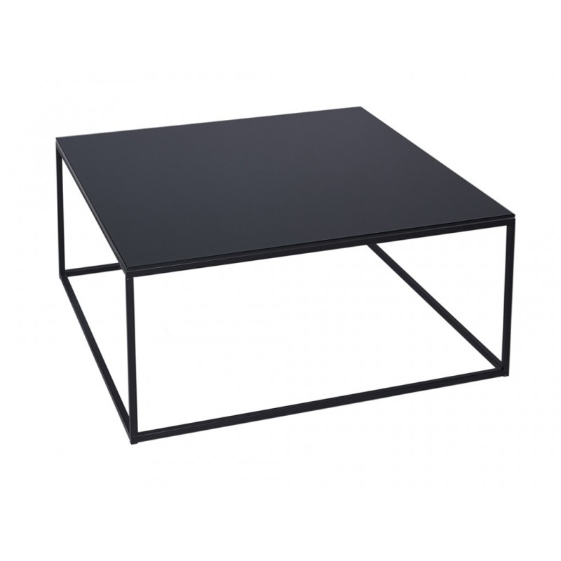 Kensal Square Coffee Table - Black Glass Top