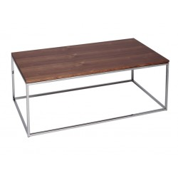 Kensal Rectangle Coffee Table with Walnut Top