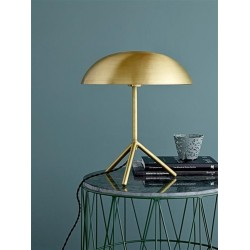 Bloomingville Ironframe Coffee Table With Dark Green Marble top
