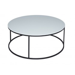 Kensal Circular Coffee Table - White Glass Top