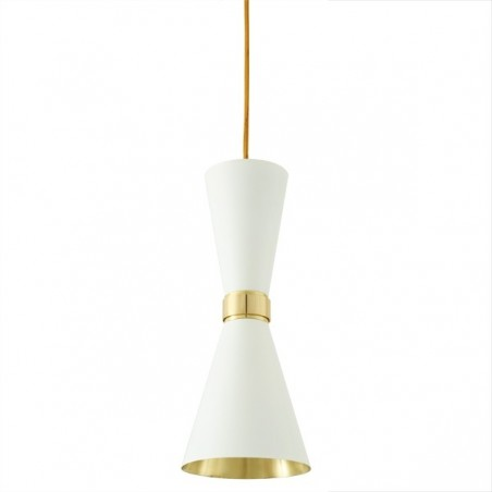 Mullan Lighting Cairo Contemporary White Pendant Light