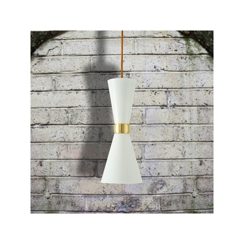 Cairo Contemporary White Pendant Light