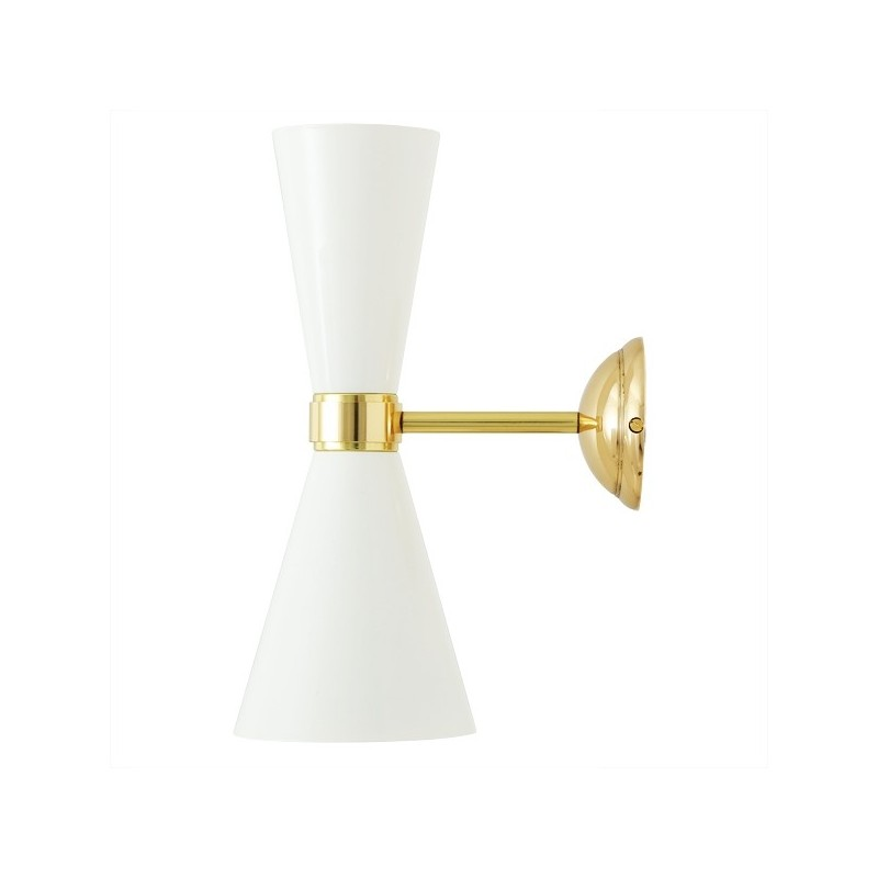 Cairo Contemporary White Wall Light
