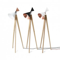 Ubikubi's Light Tale Floor Lamp in White and Copper