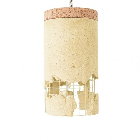 Ubikubi Slash Concrete Pendant Lamp - Yellow