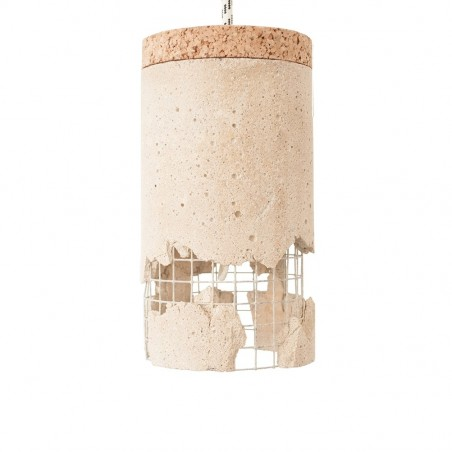 Ubikubi Slash Lamp in Concrete - Red