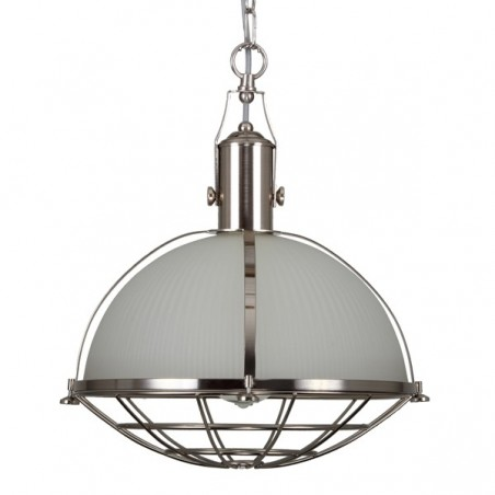 Mullan Lighting Meddle Industrial Pendant Satin Silver