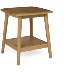 The Fifties Lamp Table in Solid Oak