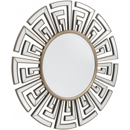 "Solent Round Contemporary Rope Mirror 41"" x 30.5"""