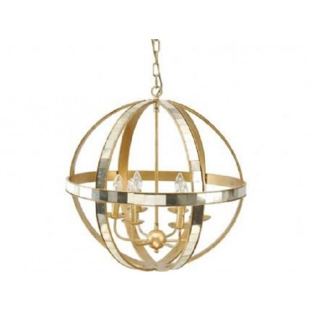 Golden Orbit Chandelier