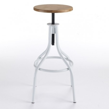 Industrial Bar Stool Pajo, White