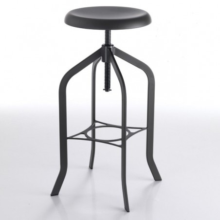 Industrial Bar Stool, Gunmetal