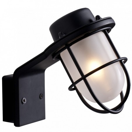 Marina Black and Glass Bathroom Lamp