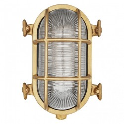 Brass Oblong Outdoor Wall Light