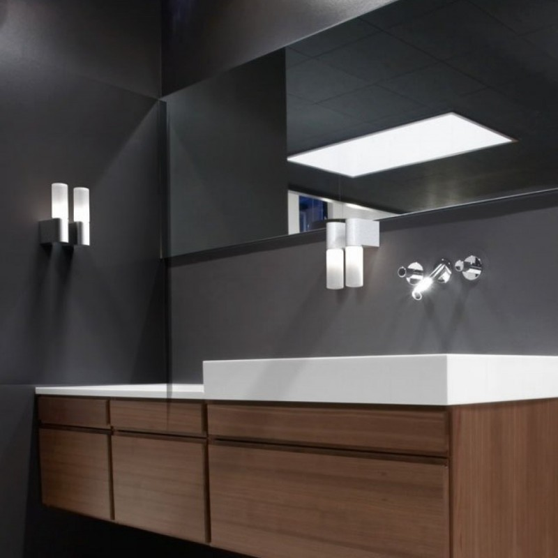 IP S1 Brushed Steel Wall Bathroom Lamp