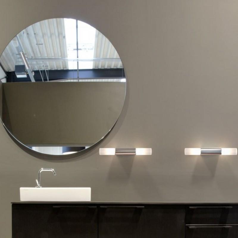IP S2 Brushed Steel Wall Bathroom Lamp