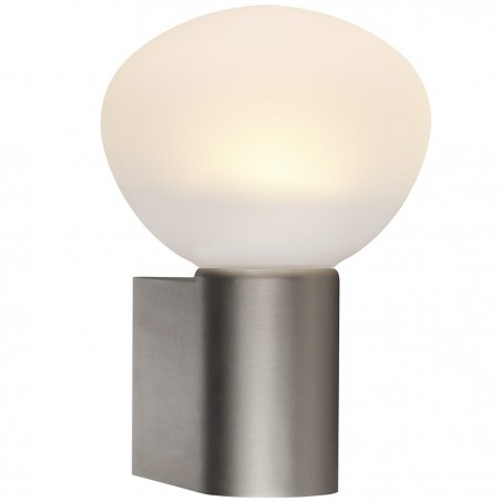 IP S3 Brushed Steel Wall Bathroom Lamp