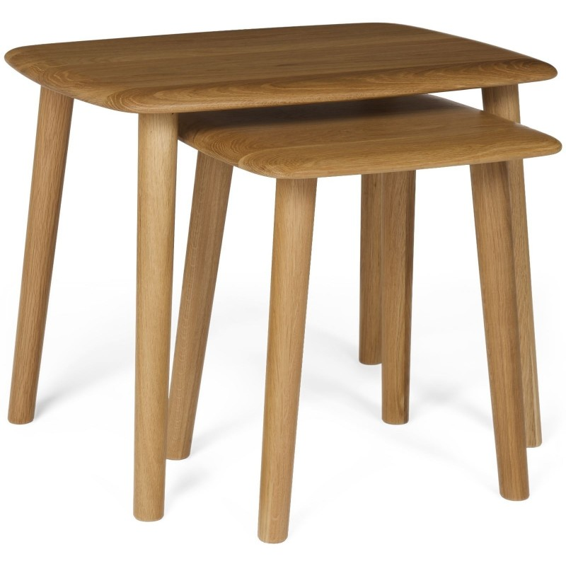 The Fifties Oak Nest of Tables