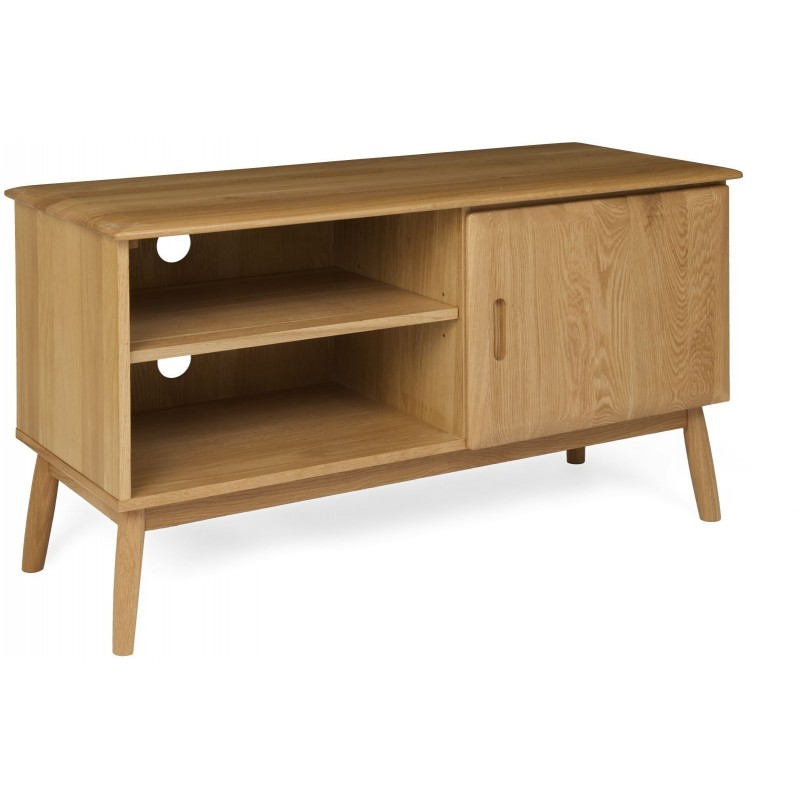 The Fifties TV Cabinet with One Door - Oak