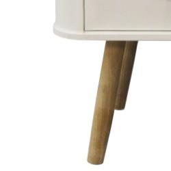 Forelsket White Sideboard - Natural Oak Legs